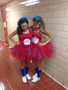 Our Thing 1 and Thing 2 Costumes