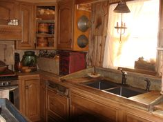 sink board to make it look like a dry sink,made from old wood sink board, colors, hous idea, old wood, new kitchens, kitchen sinks, dri sinkmad, primit kitchen, primitive kitchen
