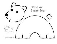 Rainbow shaped Polar Bear Cut and Paste from Making Learning Fun.