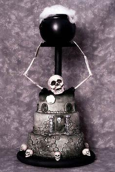 the skeleton cake. creepy yet pretty