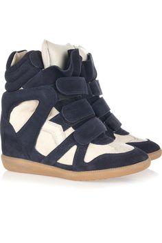 Isabel Marant  Bekket high-top suede sneakers