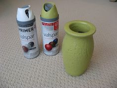 Painting Glazed Ceramic Vase DIY Before and After