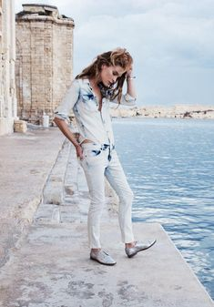 Western Jean Shirt Madewell Spring 2014, Erin Wasson on location in Malta #denimmadewell
