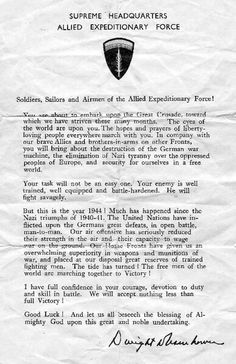 Gen. Eisenhower adresses to soldiers before operation #Overlord #d-Day