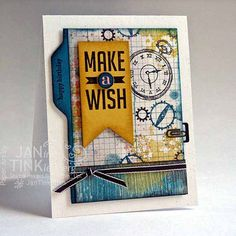 Greeting Card  Happy Birthday Steampunk Make a Wish by JanTink, $5.95