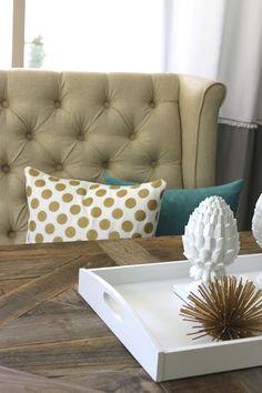 DIY Gold Dot Pillow Anthro Inspired