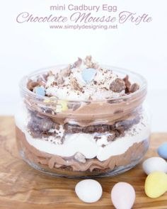 mini cadbury egg trifle
