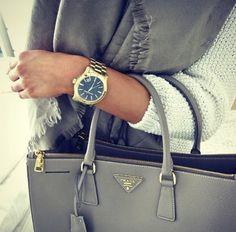 Prada bag in grey <3