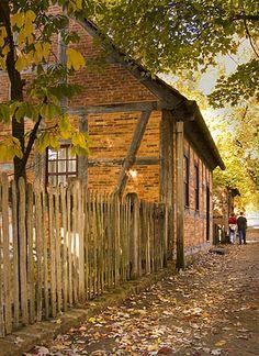 Fall in Old Salem, Winston-Salem North Carolina