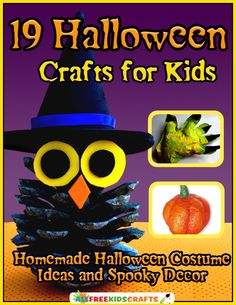 This AWESOME collection has 19 printable tutorials for Halloween crafts for kids, including the best homemade Halloween costume ideas and decorations!
