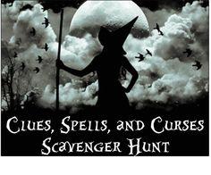 halloween scavenger hunt, halloween games adults, party games, halloween parties, hunt clue