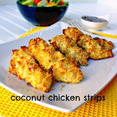 Manila Spoon: Coconut Chicken Strips - even the pickiest of eaters cannot say no to these crunchy-licious chicken nibbles! Gluten-free version is available. Enjoy!
