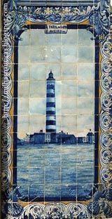 Azulejo -o Farol da Barra, Aveiro, Portugal, Tiles,  Azulejos