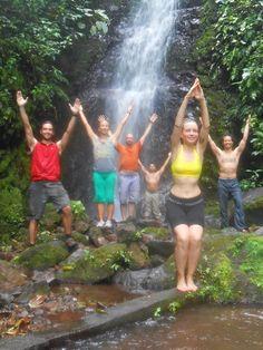 WATERFALL YOGA.    Next Gracious Living Yoga Adventure Retreat in Nicaragua Feb 3-10, 2013.   www.gracevanberkum.com