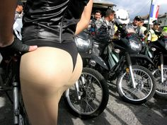 Charlie liked to prance around in his #pantyhose for bikers. He often got long, hard rides...