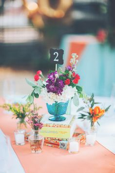 Fun, Eclectic & Colorful Centerpiece
