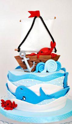 Cute ocean themed cake.