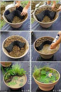 DIY Patio Water Garden