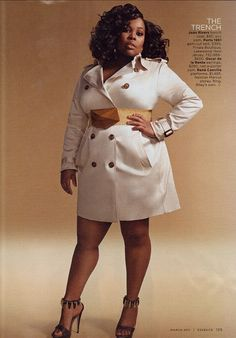 Amber Riley...plus size trench