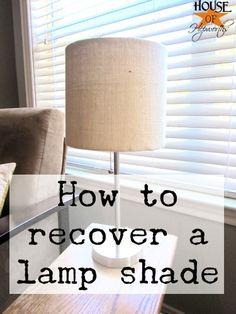 How to recover a lamp shade @ houseofhepworths.com