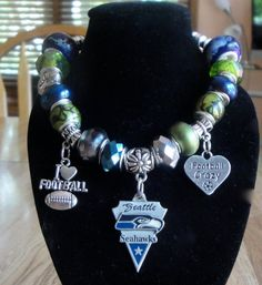 Seattle Seahawks European Charm Bracelet  by EverythingsCharming, $21.99