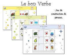 Jeux: utiliser les imagiers pour apprendre et comprendre la construction des phrases. MS-GS-CP présentat verb, grammair, langag oral, jeux de, construction