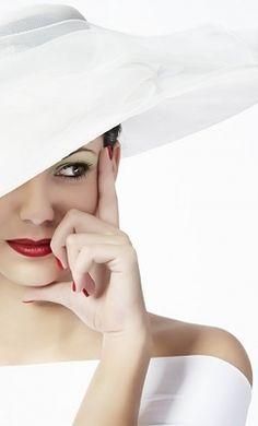 elegant white hat