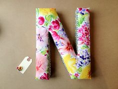 Fabric Letter Decor  N for Ng by UmbrellaShoppe on Etsy, $20.00