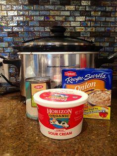 sour cream, chicken breasts, crock pots, chicken stroganoff, crockpot recipes, crockpot chicken, healthy chicken, mushroom soup, healthi crockpot