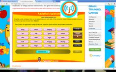 Very simple online game choose an adjective and match the opposite adjective word.