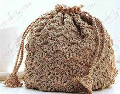 Pompadour crochet pouch! - free pattern! So roccoco!!!
