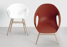 Kristalia Elephant chair with wood legs about $490