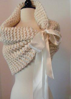 bow scarf, crochet ideas, crocheted scarf, ribbon, knit shawls