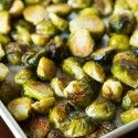 Roasted Garlic Brussels Sprouts - Table for Two
