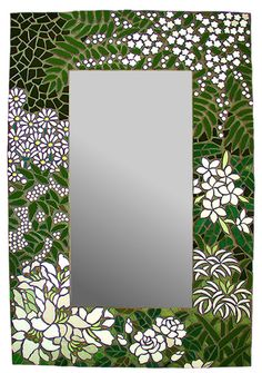 Floresta branca - belo de sugestão de florais no  mosaico.