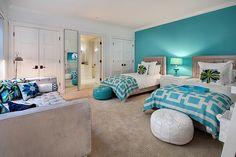 bedroom. Látex VISTA turquesa