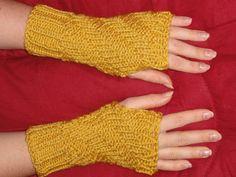 Fingerless Gloves Hand Knit Wrist Warmers  Fashion