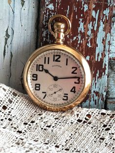 This beautiful antique pocket watch was made by the Illinois Watch Company of Springfield circa 1914.