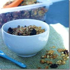 Maple Nut Granola by Eat Chic Chicago. Find the healthy recipe at http://www.eatchicchicago.com/blog/2011/10/22/maple-nut-granola/