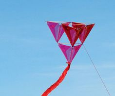 Build your own kite: This colourful tetrahedron kite will be as much fun to make as it is to fly!