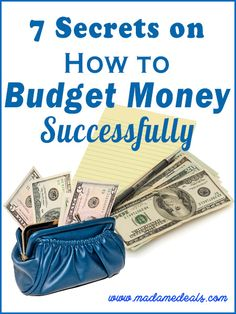 7 Secrets on How to Budget Money Successfully #frugal #money #budget #inspireothers