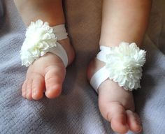 Baby Sandals Baby Shoes Barefoot BlossomTM  by PetalnPearlBoutique, $14.95