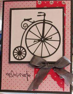 Vintage Bicycle die cut from Memory Box.