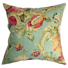 Down pillow with a classic floral pattern.     Product: Set of 2 pillowsConstruction Material: Cotton cover and...