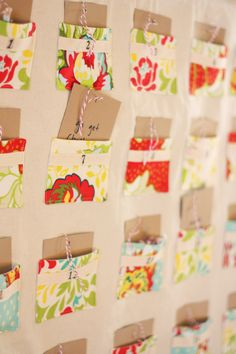 Christmas fabric pocket advent calendar tutorial