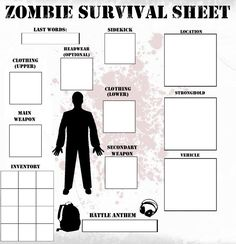 Zombie Survival Sheet- Party Game?