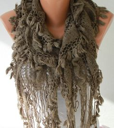 Beige -- Fall Scarf (25.00 USD) -- Free Scarf on ETSY