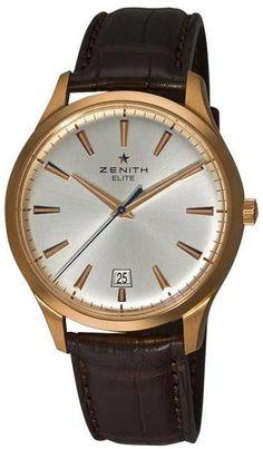 Zenith Men's 'Elite Captain Central Second' Rose Gold #Watch