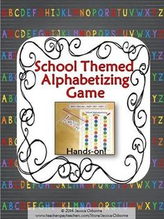Back to School Alphabetizing Hands-On Game with Extension Writing Activity