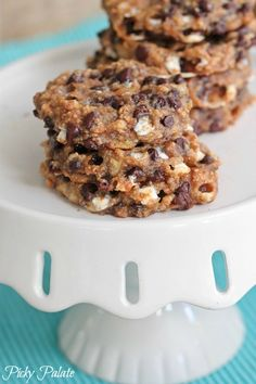 Four ingredient banana s'mores cookies!